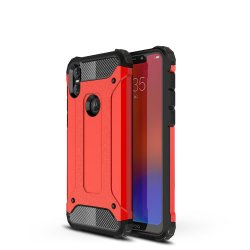 Motorola One Cover Armor GUARD Stötsäkert Hård Plastikik TPU Orange